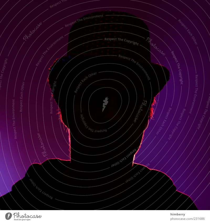 Human being Adults Emotions Head Moody Exceptional Masculine Trust Hat Guy Anonymous Identity Character Truth Top hat Silhouette