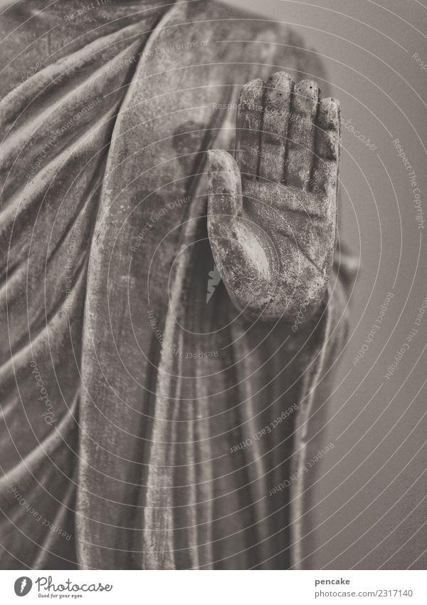 listen Hand Sculpture Sign Serene Religion and faith Senses Tradition Statue of Buddha Gesture Listening Teacher Spirituality Asia Buddhism Colour photo
