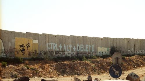 shutdown Construction site Art Information Politics and state Political movements Israel West Bank Manmade structures Wall (barrier) Wall (building) Street