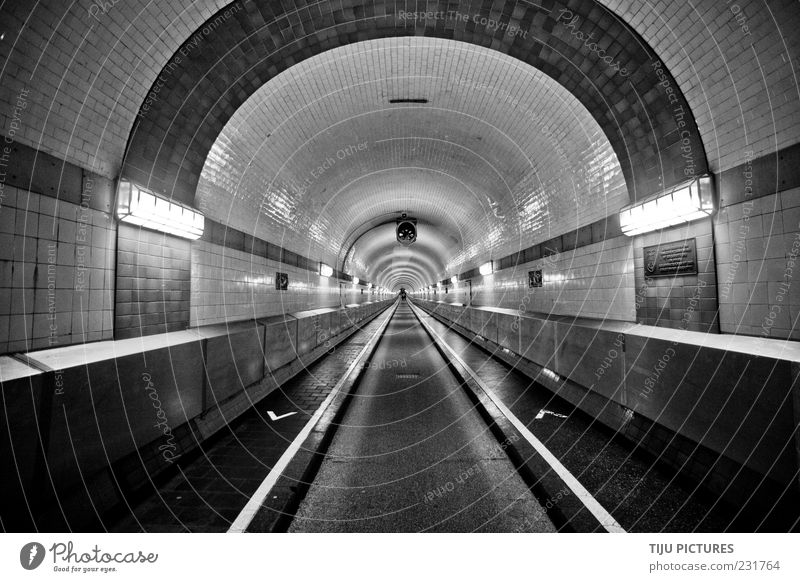 the tunnel Deserted Tunnel Manmade structures Architecture Monument Esthetic Simple Uniqueness Cold Black White Apocalyptic sentiment Art Boredom