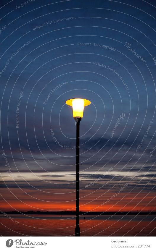 Sky Nature Clouds Calm Dark Environment Lake Moody Horizon Illuminate Uniqueness Lantern Lamp post