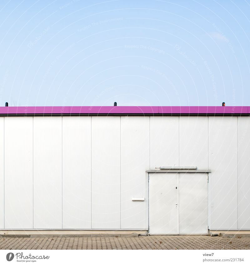 storehouse Workplace Logistics House (Residential Structure) Industrial plant Manmade structures Building Wall (barrier) Wall (building) Facade Door Metal Line