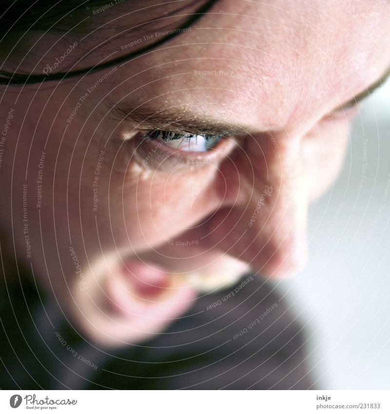 Human being Face Eyes Life Emotions Moody Wild Threat Communicate Anger Scream Make Argument Stress Evil Fight