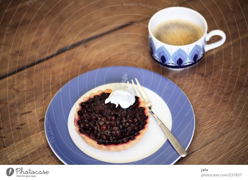 Blue Nutrition Food Beverage Coffee Cake Cup Plate Delicious Fork Cream Coffee cup Cutlery Baked goods Hot drink Food photograph