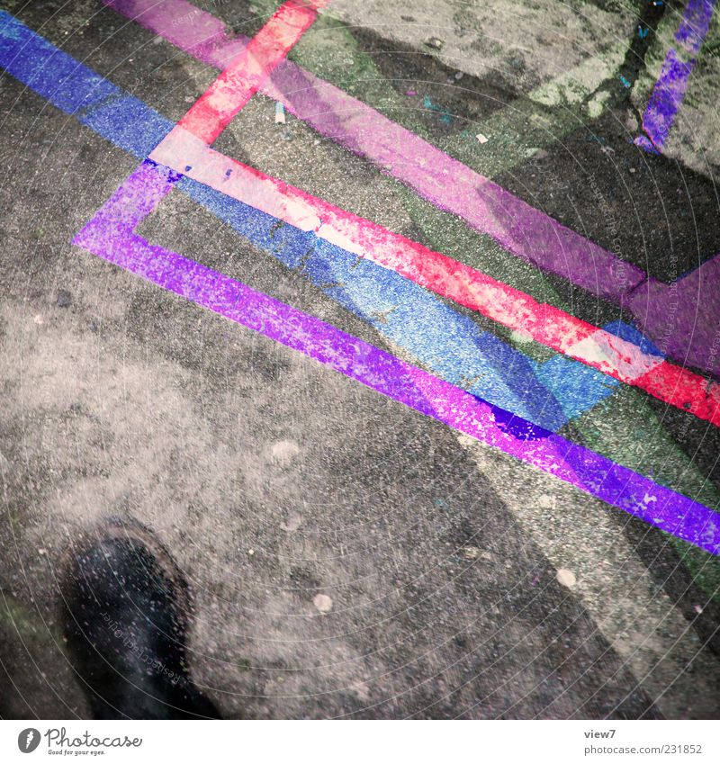 Old Colour Movement Line Footwear Pink Concrete Design Modern Exceptional Clothing Stripe Asphalt Violet Boots Bizarre