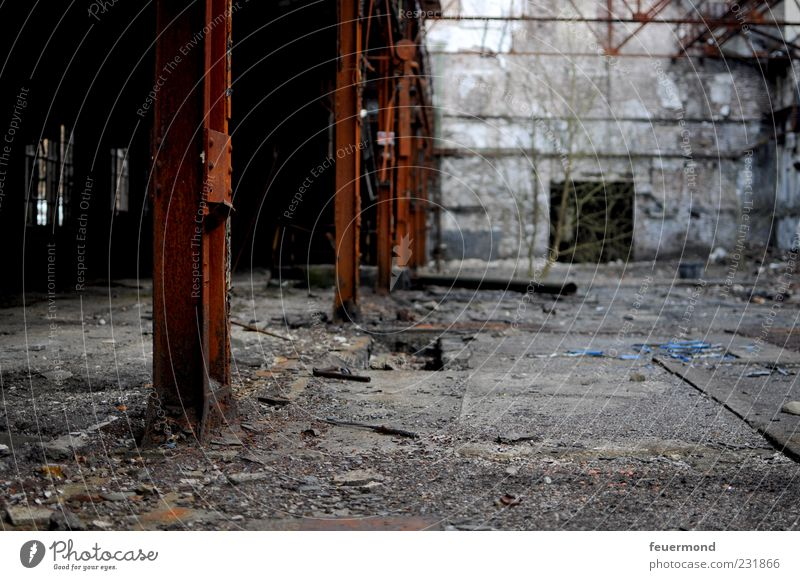 Old House (Residential Structure) Wall (building) Architecture Building Wall (barrier) Room Exceptional Industry End Manmade structures Factory Derelict Decline Ruin Industrial plant