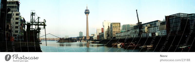 Media Harbour Panorama Europe Duesseldorf media harbour hare Water Sky Television tower