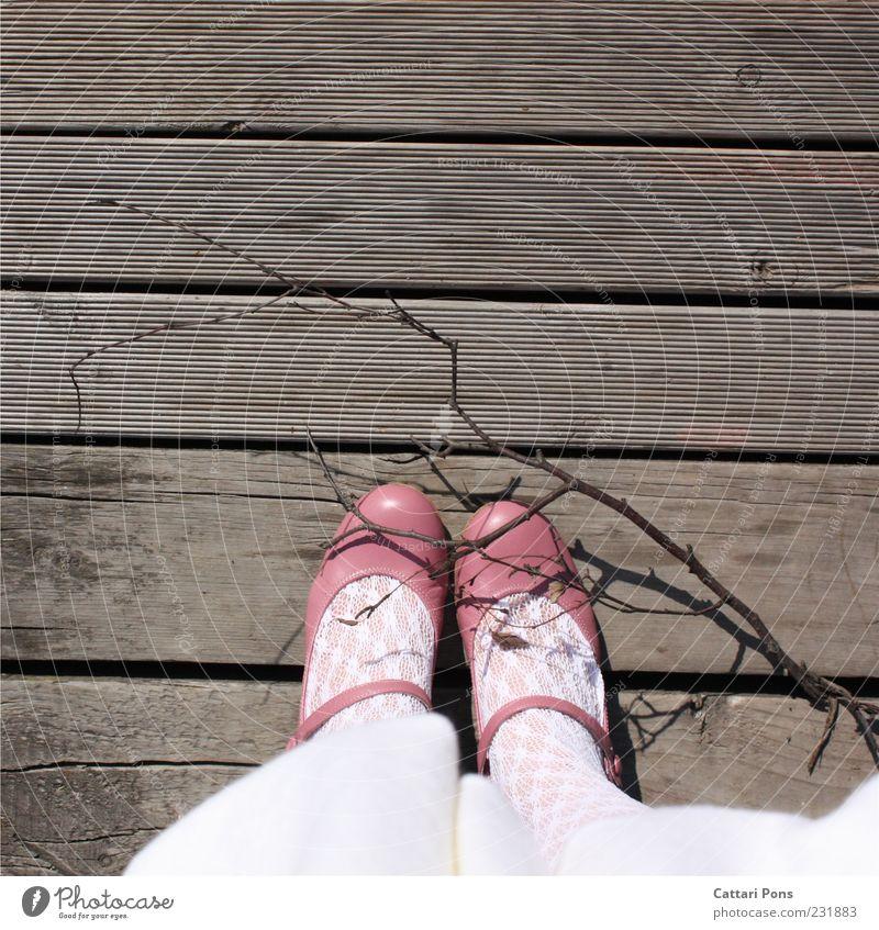 Human being White Girl Feminine Wood Feet Infancy Footwear Pink Stand Branch Kitsch Pallid Child Tights Wooden floor