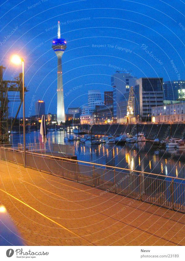 Media harbour - Düsseldorf Night Long exposure Europe media harbour Duesseldorf Harbour Television tower