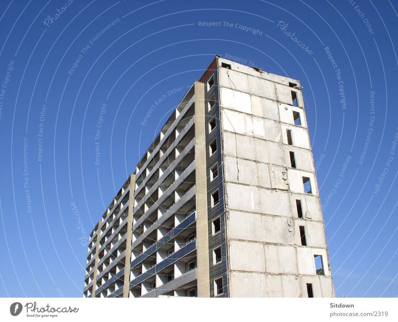 Old Architecture High-rise Empty Dismantling Prefab construction Saxony New settlement Hoyerswerda
