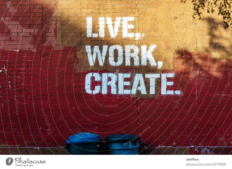 Town Graffiti Work and employment Design USA Skyline New York City Meaning Brooklyn