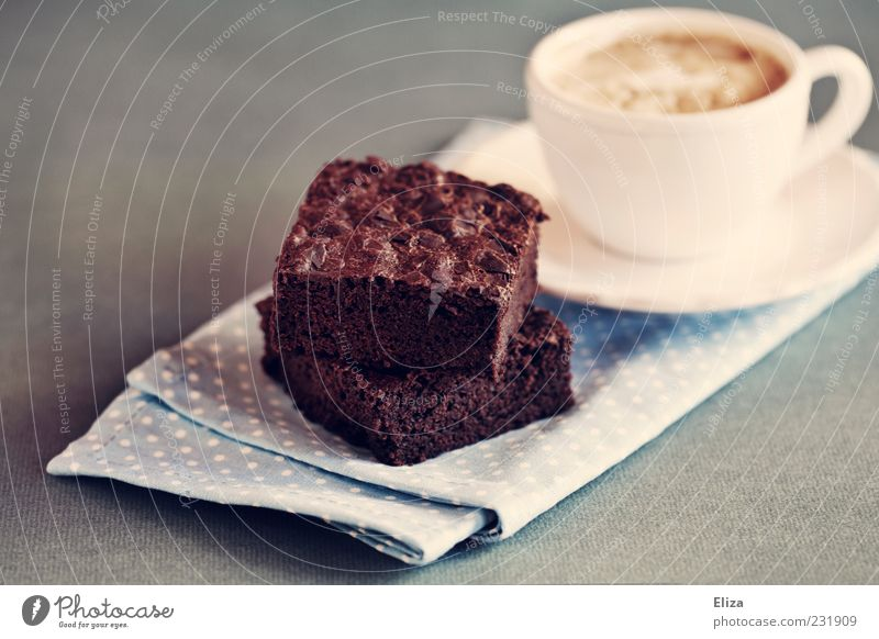 Sweet Coffee Part Cake Cup Breakfast Delicious Chocolate Baked goods Dessert Dough Vintage Spotted Serviette Candy Meal