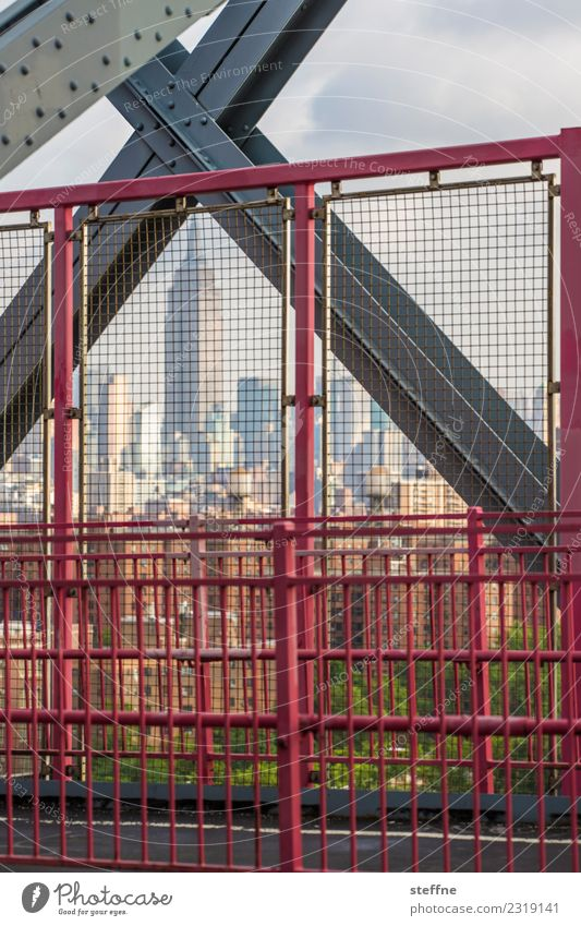 NYC15 New York City Skyline USA High-rise Town Manhattan Brooklyn Manhattan Bridge Empire State building X Grating