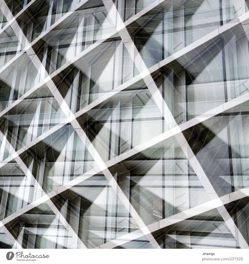 Style Metal Line Background picture Facade Design Modern Exceptional Perspective Stripe Crucifix Dynamics Double exposure Abstract Structures and shapes