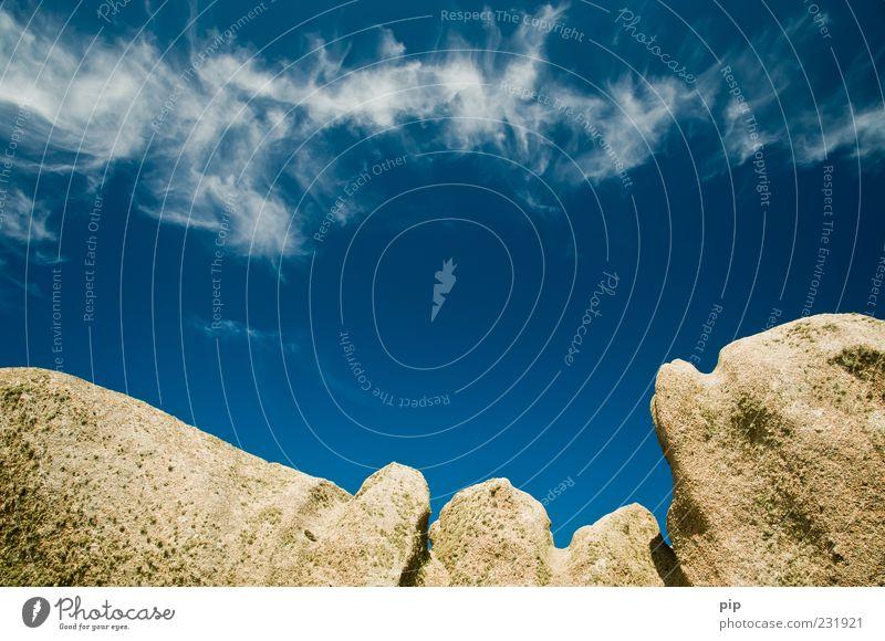 Sky Blue Summer Stone Rock Tall Beautiful weather