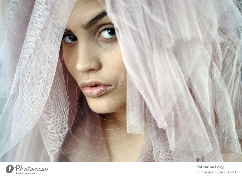 Woman Human being Youth (Young adults) Beautiful Face Adults Eyes Feminine Bright Pink Elegant Skin Nose Esthetic Uniqueness Romance