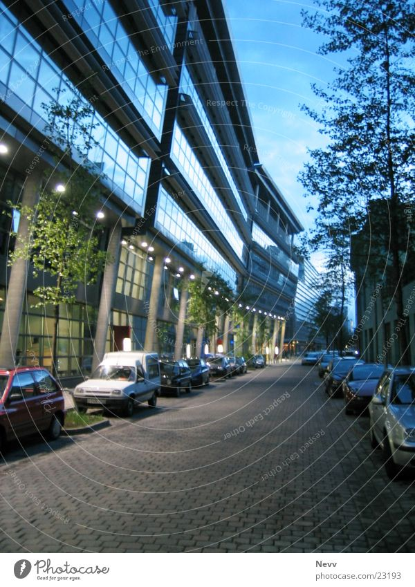 Kaistr. Night Europe Duesseldorf media harbour long-disc imaging Street