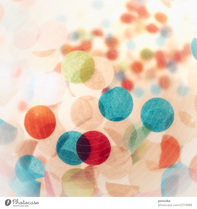 Alaaf! Design Playing Party Feasts & Celebrations Funny Balloon Round Paper Confetti Carnival Happiness Circle Colour photo Multicoloured Interior shot