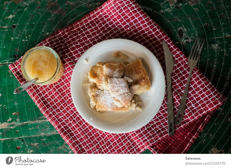 Kaiserschmarrn Food Dough Baked goods Candy Pancake Apple puree Nutrition Eating Lunch Cutlery Delicious Sweet Colour photo Interior shot