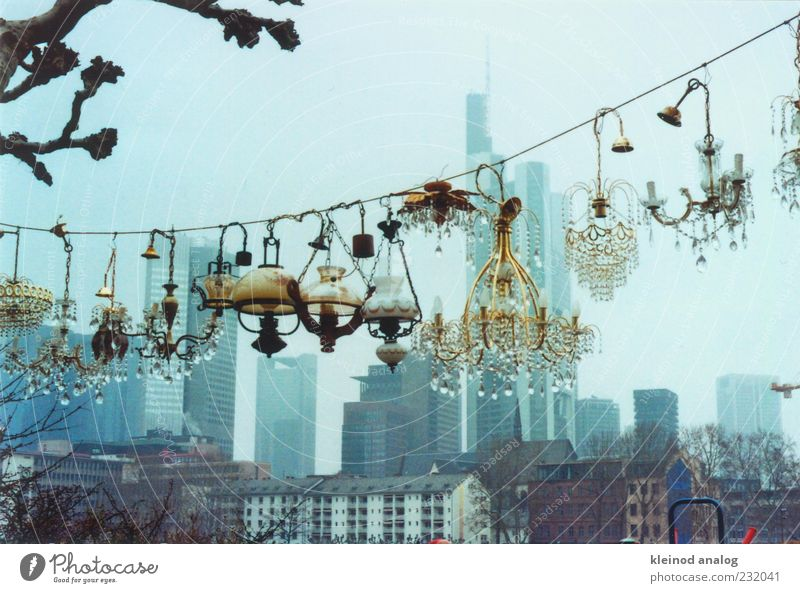 City Beautiful House (Residential Structure) Architecture Germany Fog Decoration High-rise Europe Rope Skyline Bank building Downtown Hang Markets Hesse