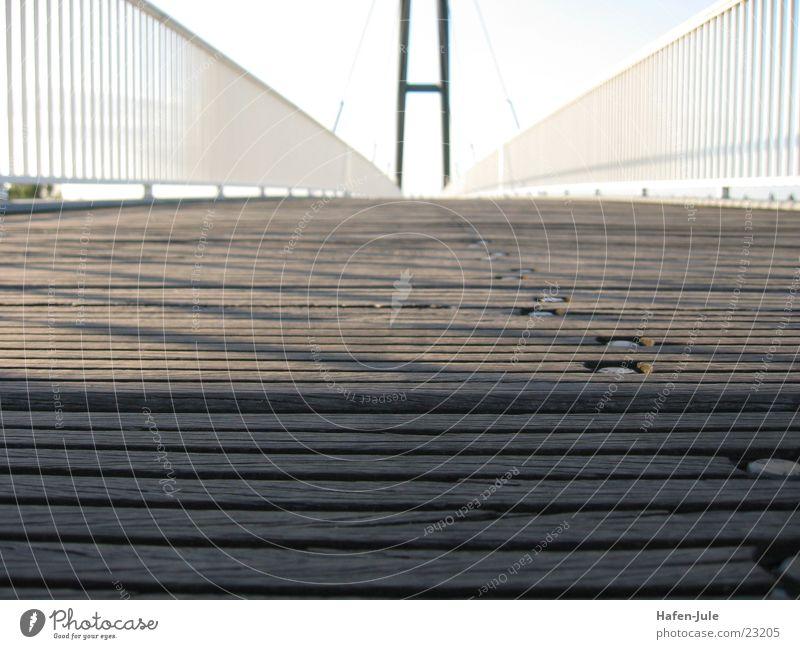 Wood Metal Bridge Duesseldorf Intersection Plank Pedestrian crossing