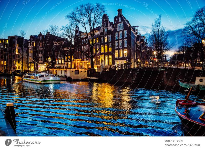 Amsterdam Vacation & Travel Tourism Trip Adventure Freedom City trip Cruise Landscape Water Netherlands Europe Capital city Downtown Building Architecture