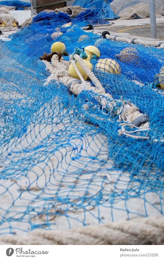 Ocean Blue Yellow Rope Europe Net Fisherman