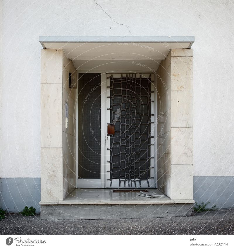 House (Residential Structure) Architecture Building Door Facade Safety Gloomy Manmade structures Protection Entrance Front door