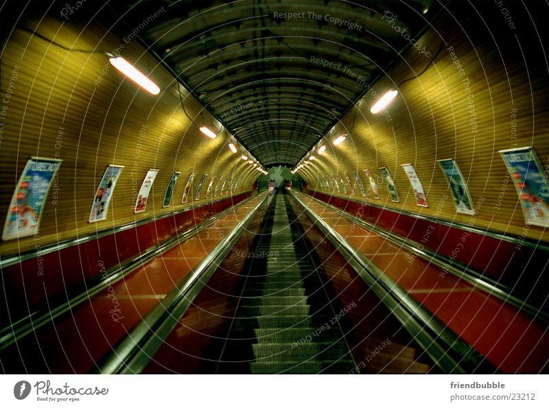 Loneliness Architecture Retro Tunnel Underground Prague Escalator Tunnel vision