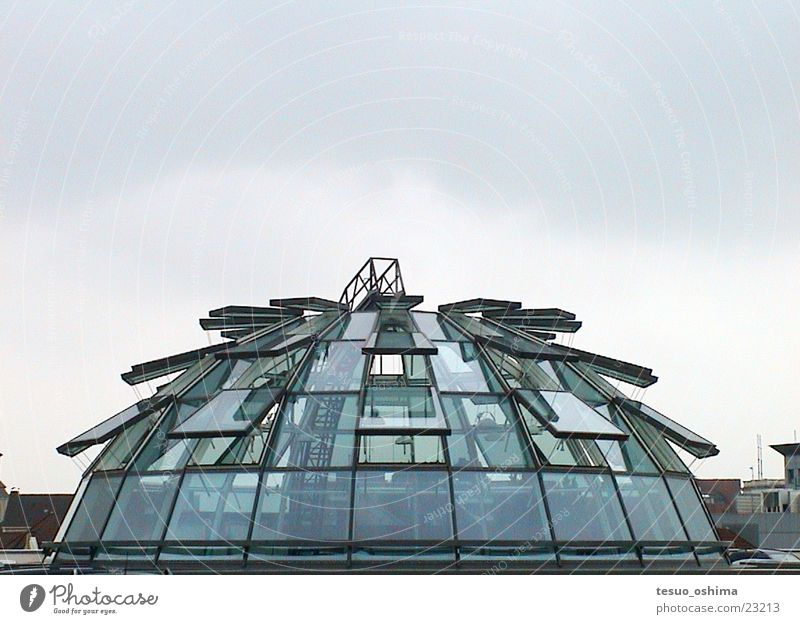 glass dome Glass roof Domed roof Parking garage Glass dome Architecture