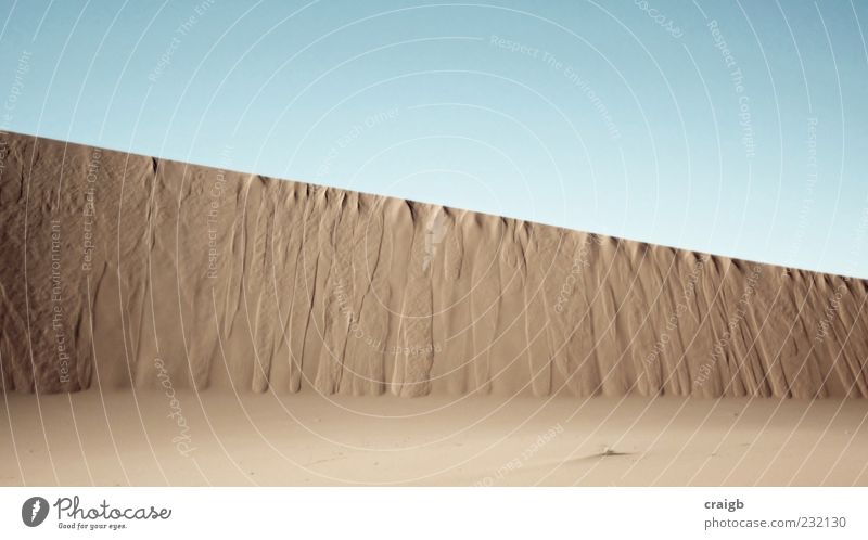 EssUnderline Nature Sky Summer Sand Landscape Simple Desert Beautiful weather Sharp-edged Sahara Cloudless sky Wall of rock