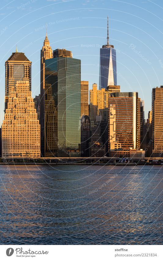 Town High-rise USA Skyline Downtown Manhattan New York City Brooklyn World Trade Center One World Trade Center East River