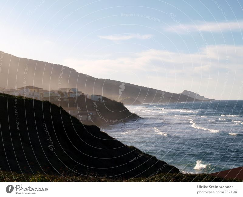 westcoast Vacation & Travel Tourism Ocean Island Waves Landscape Water Sky Clouds Rock Coast Mediterranean sea Sardinia Village Fishing village