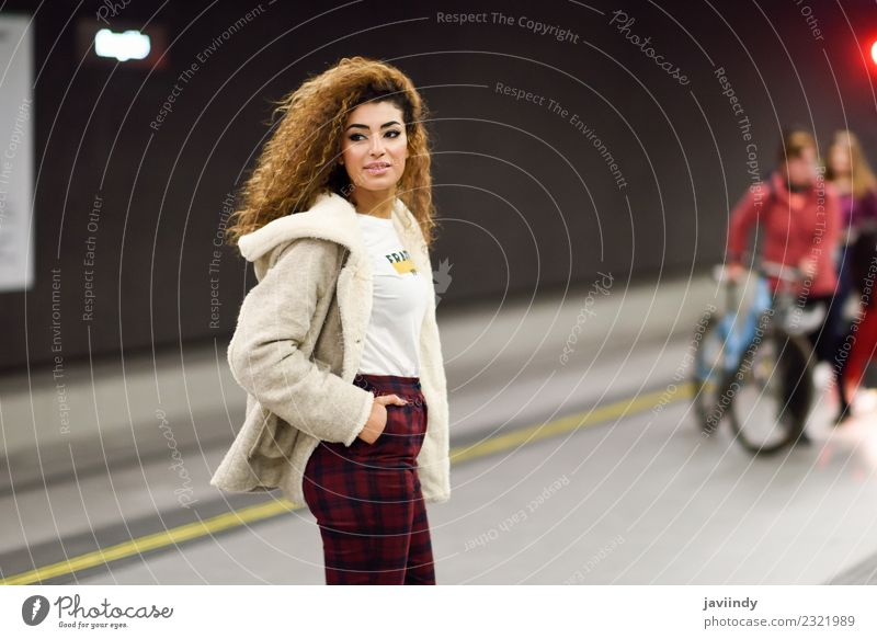 Young woman waiting her train in a subway station Lifestyle Style Vacation & Travel Tourism Trip Human being Youth (Young adults) Woman Adults 1 18 - 30 years