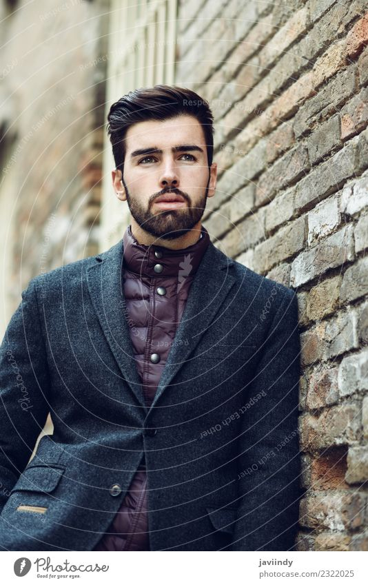 Young man wearing british elegant suit outdoors Lifestyle Elegant Style Beautiful Hair and hairstyles Human being Youth (Young adults) Man Adults 1