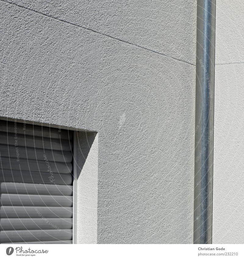 flushes forward Deserted House (Residential Structure) Manmade structures Building Architecture Wall (barrier) Wall (building) Facade Window Gray Downspout