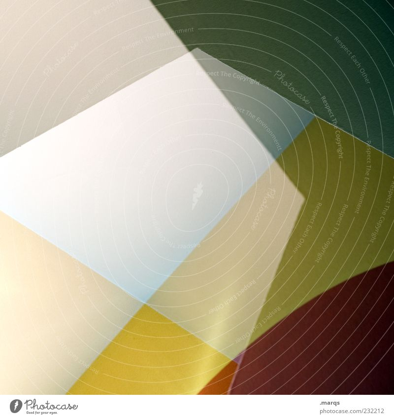 Green Red Colour Yellow Style Line Design Exceptional Perspective Cool (slang) Round Illustration Abstract Double exposure Pattern Sharp-edged