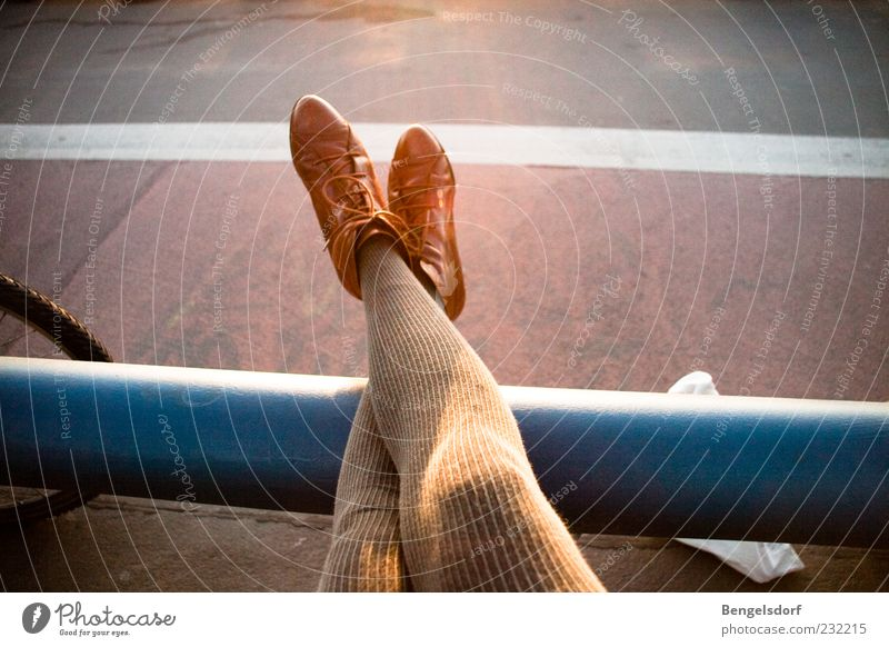 just loosen up a bit Harmonious Well-being Relaxation Calm Leisure and hobbies Human being Woman Adults Legs Feet 1 Fashion Tights Footwear Boots Lie Break