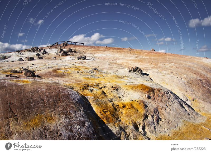 sulphur slope Vacation & Travel Environment Nature Landscape Elements Earth Sand Sky Clouds Climate Beautiful weather Rock Mountain Stone Exceptional Yellow