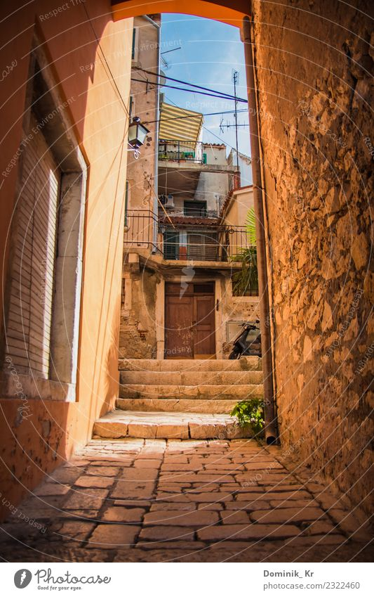 Alley in Rovinj Vacation & Travel Trip Far-off places Freedom Summer Summer vacation House (Residential Structure) Furniture Art Architecture Culture Sky