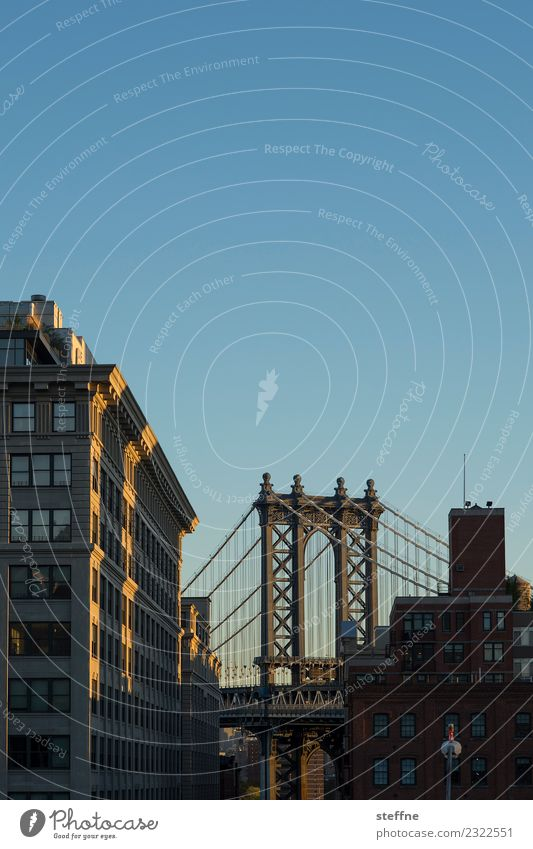 Town High-rise USA Skyline Manhattan New York City Brooklyn Manhattan Bridge
