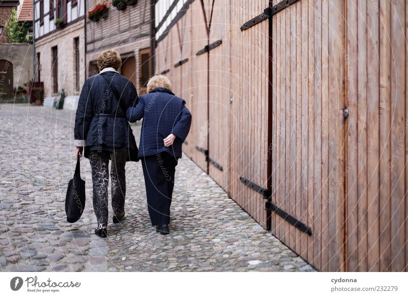 Human being Woman House (Residential Structure) Life Wall (building) Senior citizen Movement Lanes & trails Wall (barrier) Friendship Time Contentment Facade