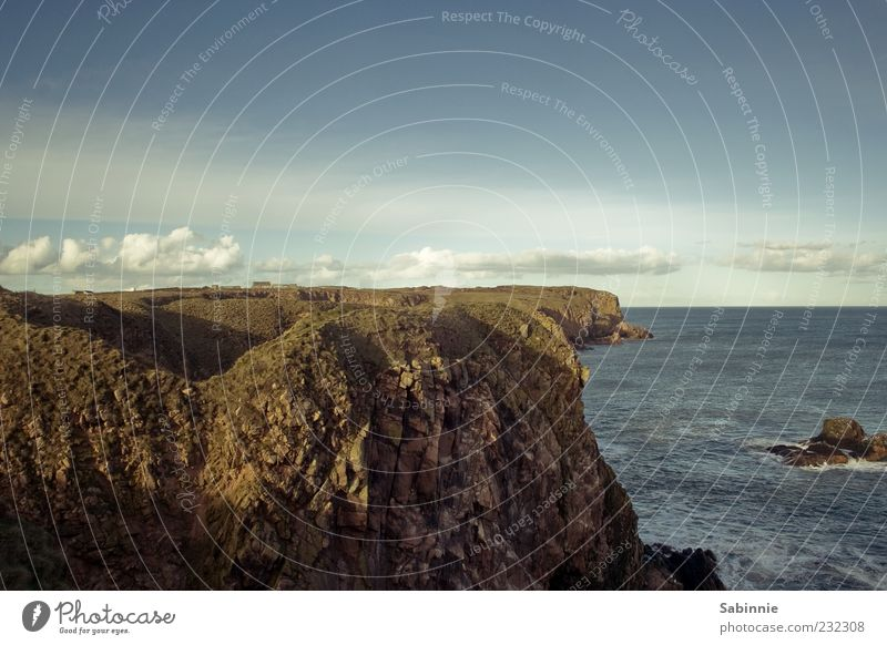 Sky Nature Vacation & Travel Ocean Clouds Environment Stone Coast Horizon Earth Rock Wild Tourism Elements North Sea Beautiful weather
