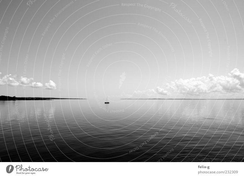 Sky Water Ocean Loneliness Calm Gray Coast Horizon Time Infinity Eternity Navigation Wanderlust Sailboat Stagnating Watercraft