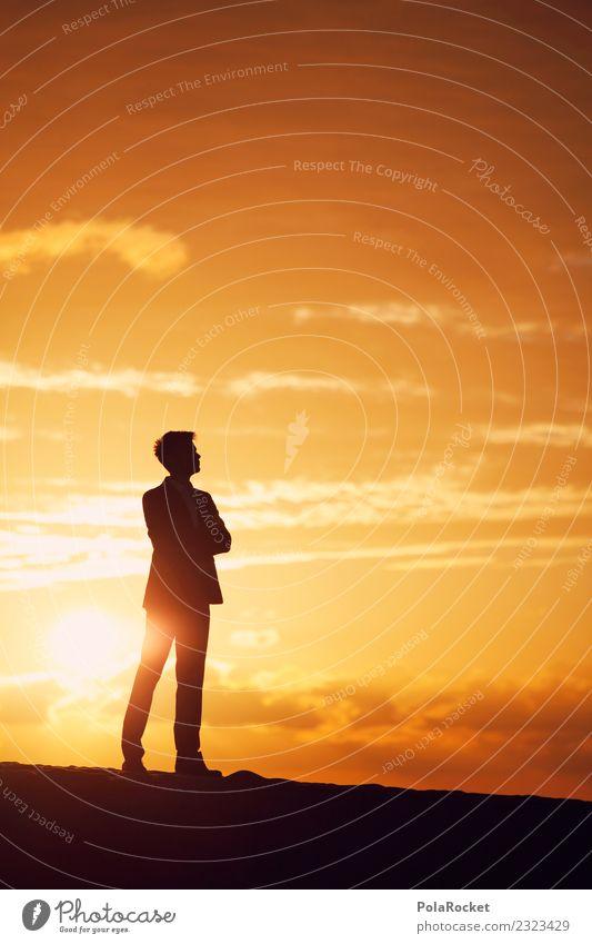 Sun Religion and faith Yellow Lanes & trails Business Orange Masculine Dream Hope Fear of the future Futurism Profession Desire Career Suit