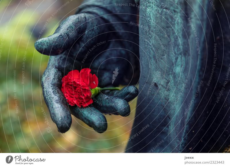 Old Beautiful Red Black Love Emotions Death Metal Hope Grief Rose Sculpture Nostalgia Optimism Guilty