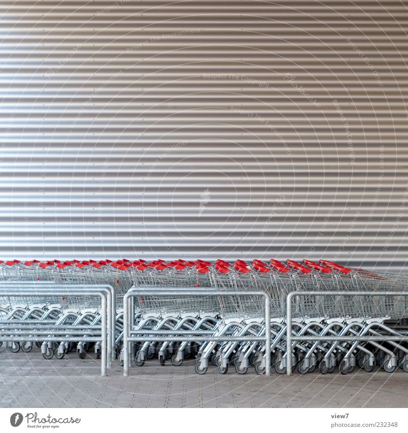 Red Gray Building Metal Line Facade Beginning Modern Authentic Good Stripe Many Simple Manmade structures Sign Store premises