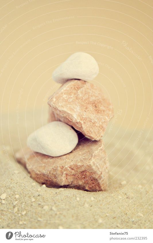 Little Tower Nature Sand Decoration Stone Looking Dream Living or residing Esthetic Simple Beautiful Natural Soft Brown White Joy Happiness Power Might