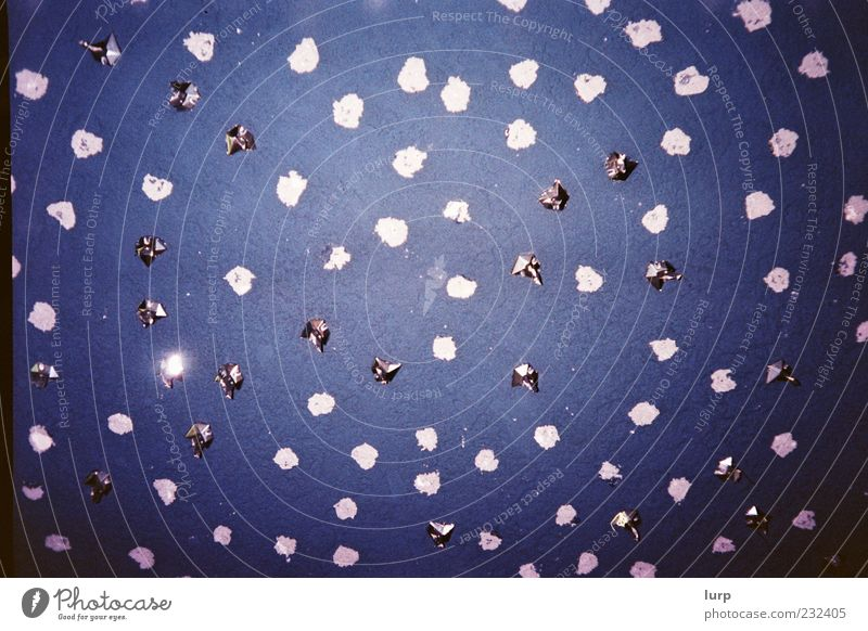 Sky Blue Wall (building) Stars Exceptional Silver Ceiling Night sky Starry sky Lomography Metal foil