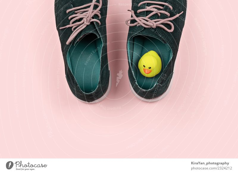 Men's shoes with yellow rubber duck Style Happy Health care Entertainment Feasts & Celebrations Office Man Adults Fashion Boots Squeak duck Funny Modern Blue